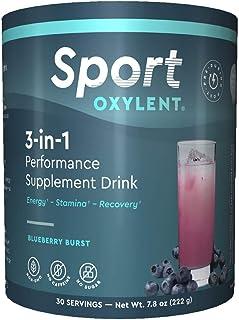 Oxylent - 体育3在1补充饮料蓝莓爆炸味道 - 7.8盎司