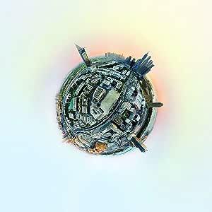 """360° 迪拜媒体城市空中海报印刷品 24"""" x 18"""""""