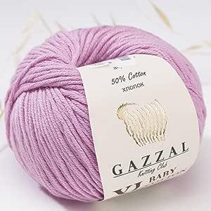 3件装 ( 球 ) gazzal 婴儿棉质 XL TOTAL 149.7gram / 344yrds 每个球4盎司50g ) / 246yrds ( 225M ) 超软 dk- worsted 婴儿纱线50% 土耳其棉质