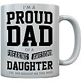 Tstars Proud Dad of A Freaking Awesome Daughter 送给爸爸的趣味礼物 咖啡马克杯 陶瓷马克杯 白色 15 oz. GhPhMlhgWWwPPWw9lM6F