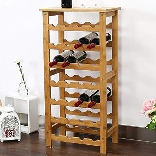 Bakaji 28瓶装酒架 天然竹子 94 x 47 x 29厘米