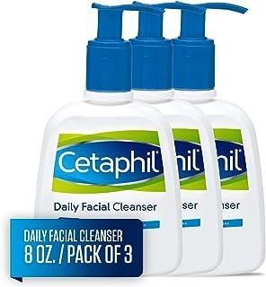 Cetaphil 丝塔芙 日用洁面乳,适合中性至油性皮肤,敏感肌肤的温和洗面奶,8盎司/约236.59毫升(3个装)