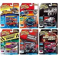Johnny Lightning Street Freaks 2019 Set B - 壓鑄汽車 6 件裝 - 適于收藏模型,適合兒童和成人 - 限量版
