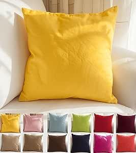 tangdepot 手工装饰纯色100% 棉帆布抱枕枕套 / 枕头套,多种颜色可选