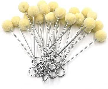 Aiskaer 羊毛涂抹器球刷,皮革染料工具,带金属手柄,适用于 DIY 工艺品 60pcs 4336954080
