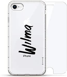 Luxendary Air 系列 360 束,设计师款手机壳 Plus 钢化玻璃 iPhone 8/7LUX-I8AIR360-NMWILMA1 NAME: WILMA, HAND-WRITTEN STYLE 透明