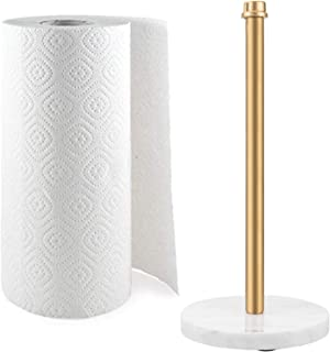 MyGift Gold Industrial Pipe & Marble Base Countertop Paper Towel 支架