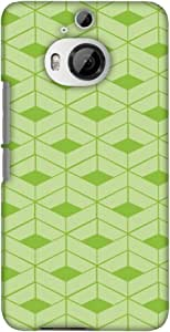 AMZER 超薄设计师卡扣式硬壳后盖带屏幕护理套件适用于 HTC One M9 PlusAMZ601040381018  Carbon Fiber Redux Pear Green 9