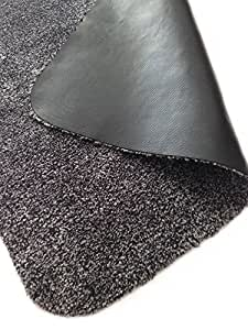 Rismat 室内衬垫,棉和超细纤维,防滑橡胶背衬,低剖面地毯,泥土和泥土,炭黑色 30 x 59 inches MAT6202