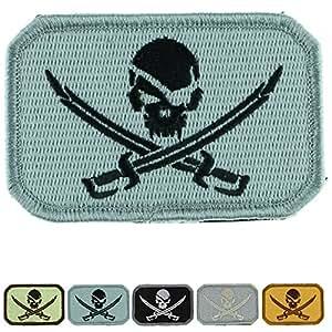 战术补丁:海盗骷髅和十字剑 Black on Gray LiZMS