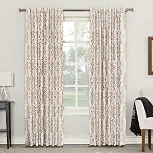 "Sun Zero Rita Blackout Lined Back-Tab single Curtain Panel , 52 X 95"" , Linen"