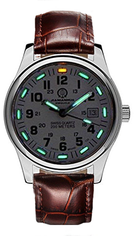 嘉年华手表 氚气自发光夜光男士 深度潜水级防水男表 户外腕表