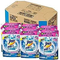 【ケース販売】アタック 抗菌EX スーパークリアジェル 洗濯洗剤 液體 詰替用 大容量 1.35kg×6個