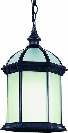 """Trans Globe Lighting PL-4183 BK Outdoor Wentworth II 17.5"""" Hanging Lantern, Black"""