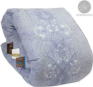昭和西川 品质可靠 保暖蓬松羽绒被 日本制造 单人床 小双人床 双人床 蓝色 ダブル 3011100104656