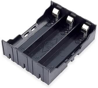 18650 电池架,Conwork 3 x 18650 电池支架盒收纳盒,带针脚设计用于电电路 DIY 项目(2 件装)