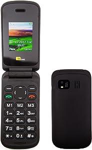 TTsims Flip TT140 移动电话TT140 TTsims TT140 Flip with USB Cable 黑色