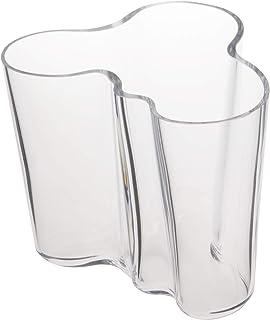 Iittala 000440 Aalto 花瓶 95 毫米,白色 透明 Standard 000439
