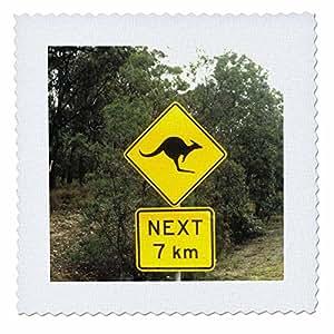 QS 74661可 danita delimont–Road 标牌–标志警告 OF kangeroos CROSSING IN australia-au01bba0096–BILL BACHMANN–方块拼布