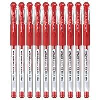 uni 三菱 UM-151 超细中性笔 0.38mm (笔芯红色) 10支装 防水耐晒 财务专用