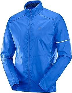 Salomon 萨洛蒙 男式 Agile 防风夹克 中 蓝色 LC1047400-1-Medium