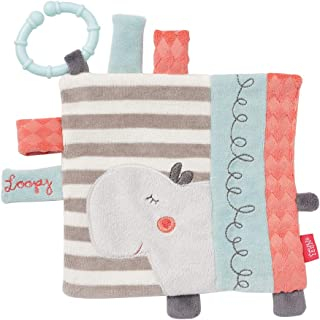 FEHN 小马浴巾 河马 带环 / 活动拉手巾 用于挂起具有吸引力的结构,可产生抓握和声音 – 适合0个月以上宝宝和幼儿 多色