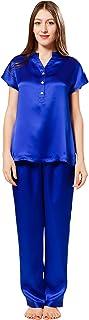 ElleSilk 女式丝质睡衣套装,丝质睡衣,超柔软,低*性