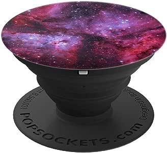粉红色紫色蓝色星云太空银河星尘 PopSockets 手机和平板电脑握架260027  黑色