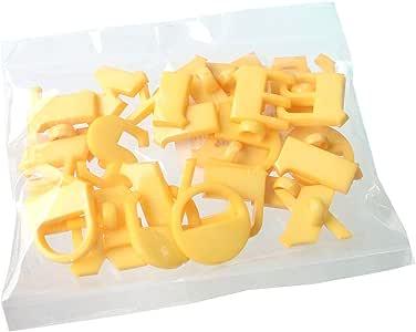 NBK 字母按钮 A~Z 各1个 黄套装 直径18毫米 黄色 CG-YSET
