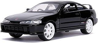 Jada JDM 调谐器 - 1995 Honda Integra Type R (日本规格)1:24 比例金属压铸汽车,亮黑色