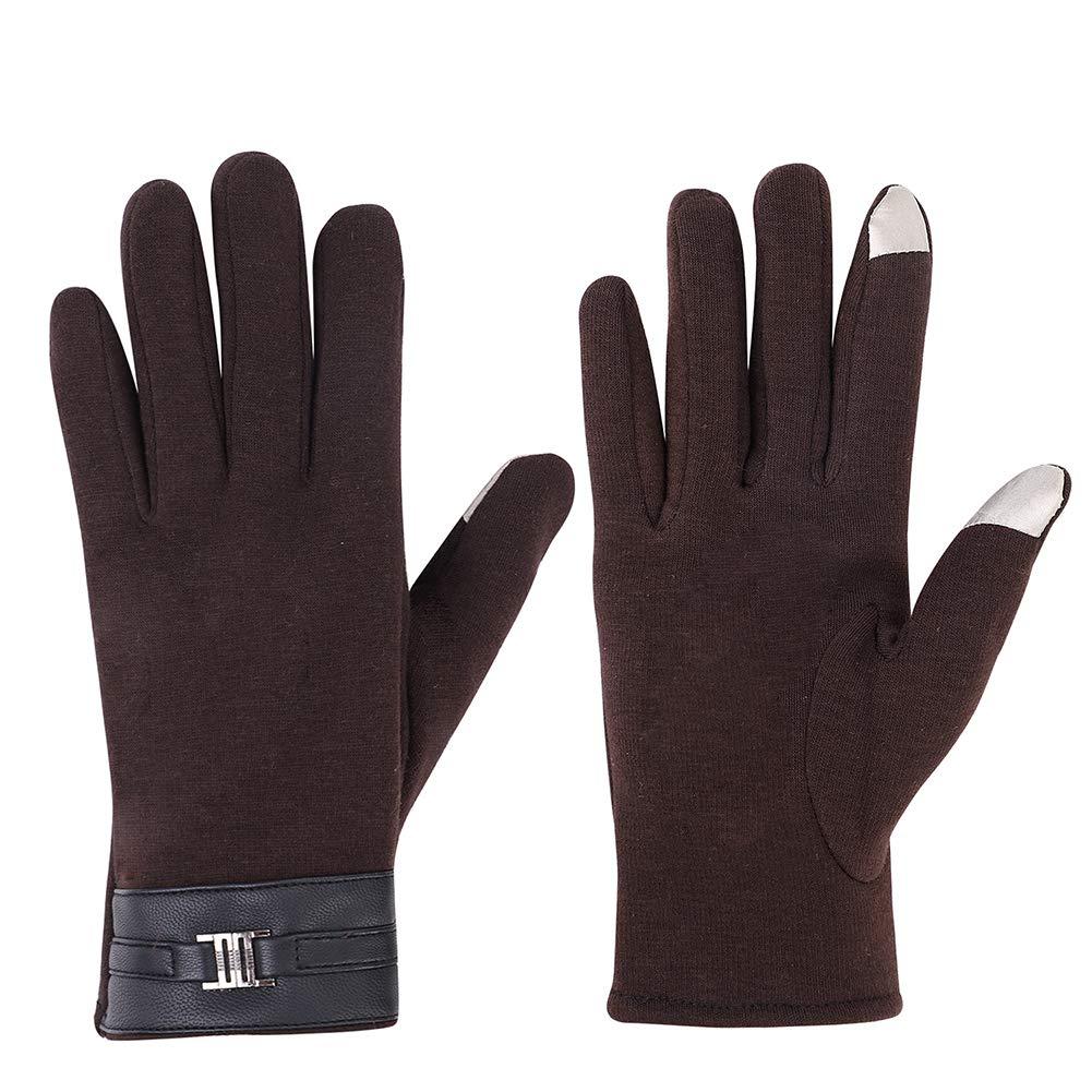 男性は手袋に手袋アウトドアスポーツ手袋冷たい革の手首、手指のタッチスクリーン手袋綿織物防風暖かい冬厚く暖かいフリースライニングオートバイ運転手を触れ