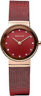 BERING 女式模拟石英手表不锈钢表带 10126-363
