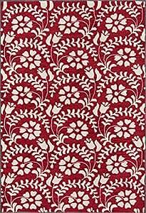 "Momeni Rugs HAVANHV-10GRN7999 哈瓦那系列手工簇绒现代小地毯,7'9"" x 9'9"",*"