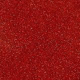 SISER GLITTER EASY WEED HEAT 变色器 乙烯基 50.80 厘米 x 2.54 厘米(30.48 厘米)。 HTV 玻璃乙烯薄膜 30.48 X 50.80 厘米 SISER 易穿玻璃热变乙烯基 红色