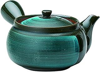 美浓烧 全景立体画 茶壶(带网茶滤)玉石 K11244