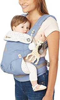 ERGObaby 360 All Carry Positions 符合人体工学的婴儿背带 - Sophie La Girafe Collaboration,蓝色