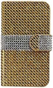 Reiko - Diamond Flip Case for Kyocera Hydro Icon C6730/Hydro Life C6530N - Gold