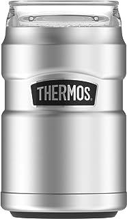 Thermos Stainless King Can Insulator,360 度饮料盖,蔓越莓色 亮灰色 10oz SK1500ST4