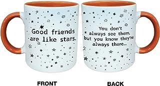 Good Friends Are Like Stars They Are Always There 咖啡杯,325 毫升,女士、女朋友的新奇杯子,长距离友谊,*好的朋友,搬家,圣诞姐妹外出 橙色