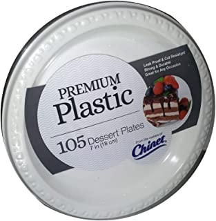 """Chinet 7"""" Premium Plastic Dessert Plates - 105 ct."""