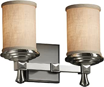 justice Design GROUP fab-8532–10-crem-led2–1400纺织品7.62cm DECO 2灯 led , 需配变压器