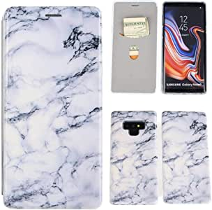 Galaxy Note 9 手机壳、Note 9 钱包式手机壳、iYCK 优质 PU 皮革翻盖式保护套带支架的三星 Galaxy Note 9 钱包式手机壳 Samsung Galaxy Note 9 [A] White