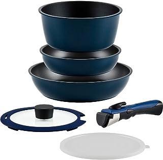 和平 FREIZ 6件套锅具 带手柄 支持IH 顶级耐用性 使用大金工业公司的光滑表面EZ Cook Deli AMA-9712