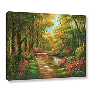 """ArtWall Wesley's Enchanted Creek I Gallery Wrapped Canvas, 14"""" x 18"""""""