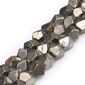 GEM-inside 8 毫米光面宝石银灰色黄铁珠串,38.1 厘米 8mm/Silver Gray 8mm