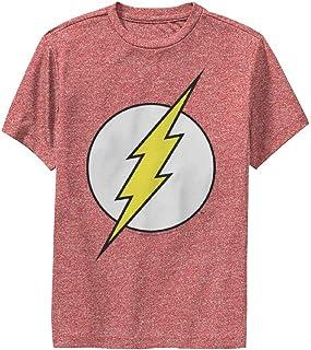 """Warner Bros. 7"""" 对开式 黑色 男童 T 恤 杂红色 Large"""