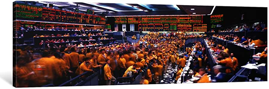 "iCanvasART Mercantile Exchange, Trading, Chicago, Illinois, USA Canvas Print by Panoramic Images, 36 by 12""/1.5"" Deep"