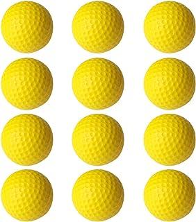 PINMEI 练习泡沫高尔夫球 12 个装趣味练习高尔夫球 适合儿童,室内或室外后院高尔夫训练球