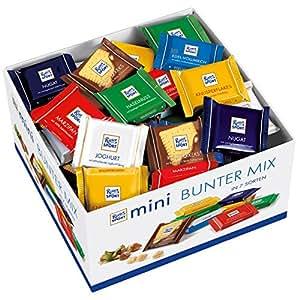 RITTER SPORT瑞特斯波德 mini 黄油混合巧克力盒 7种美味 全牛奶巧克力 半黑巧克力 小块牛奶巧克力