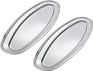 Kosma 不锈钢鱼盘 - 盘子 - 餐盘 - 烤肉盘 75 cm KG-23263